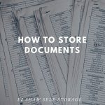 Self Storage Manly: How to Store Documents | EJ Shaw Storage