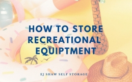 Self Storage for your recreational equipment